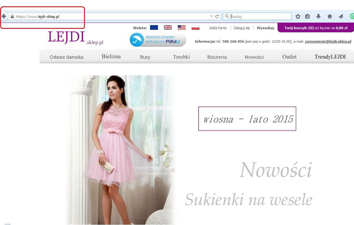 Bezpieczeństwo sklep internetowy