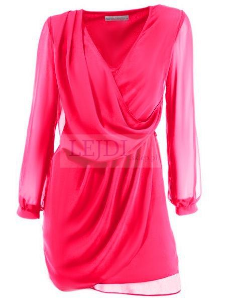 Szyfonowa różowa, amarantowa tunika