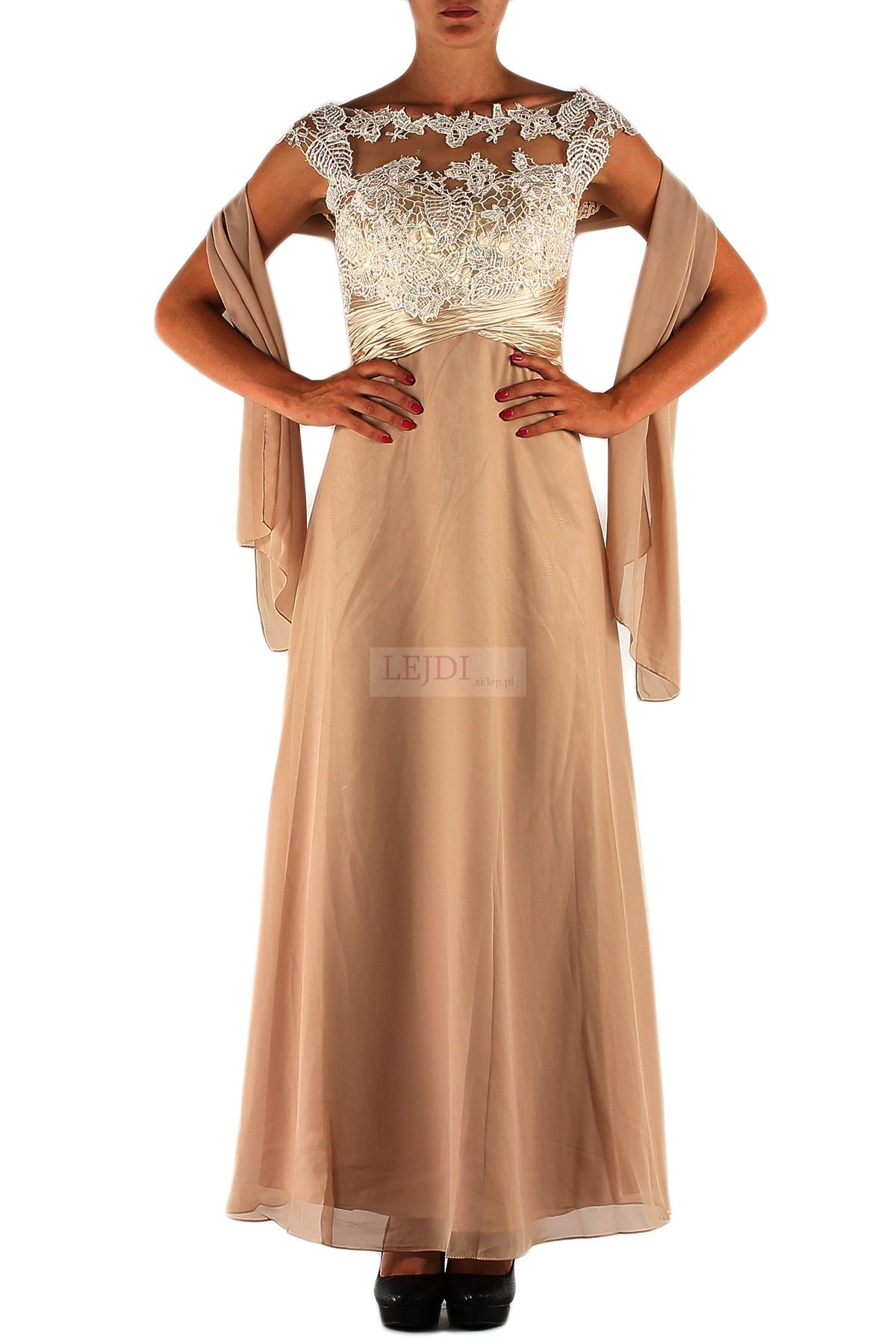 długa suknia dla Matki Panny Młodej i Matki Pana Młodego