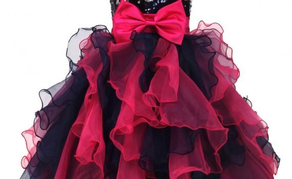 Sukienki na sylwestra.Cekinowa szyfonowa sukienka z kokardą. Sukienki wieczorowe, sukienka wieczorowa.
