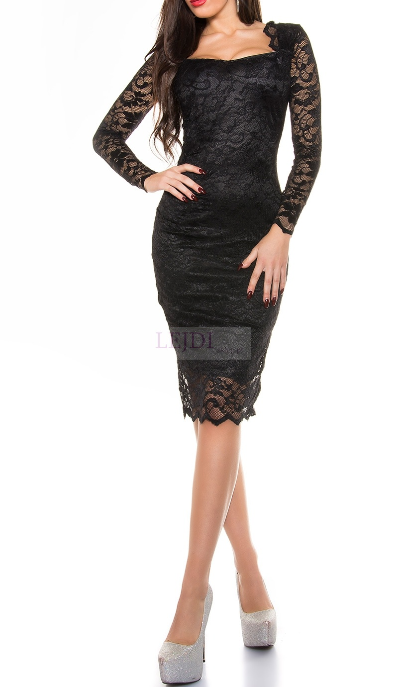 Czarna koronkowa sukienka na studniówkę , na wesele, koronkowa sukienka na sylwestra.