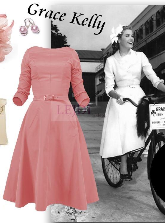 Sukienka w stylu retro na studniówkę.