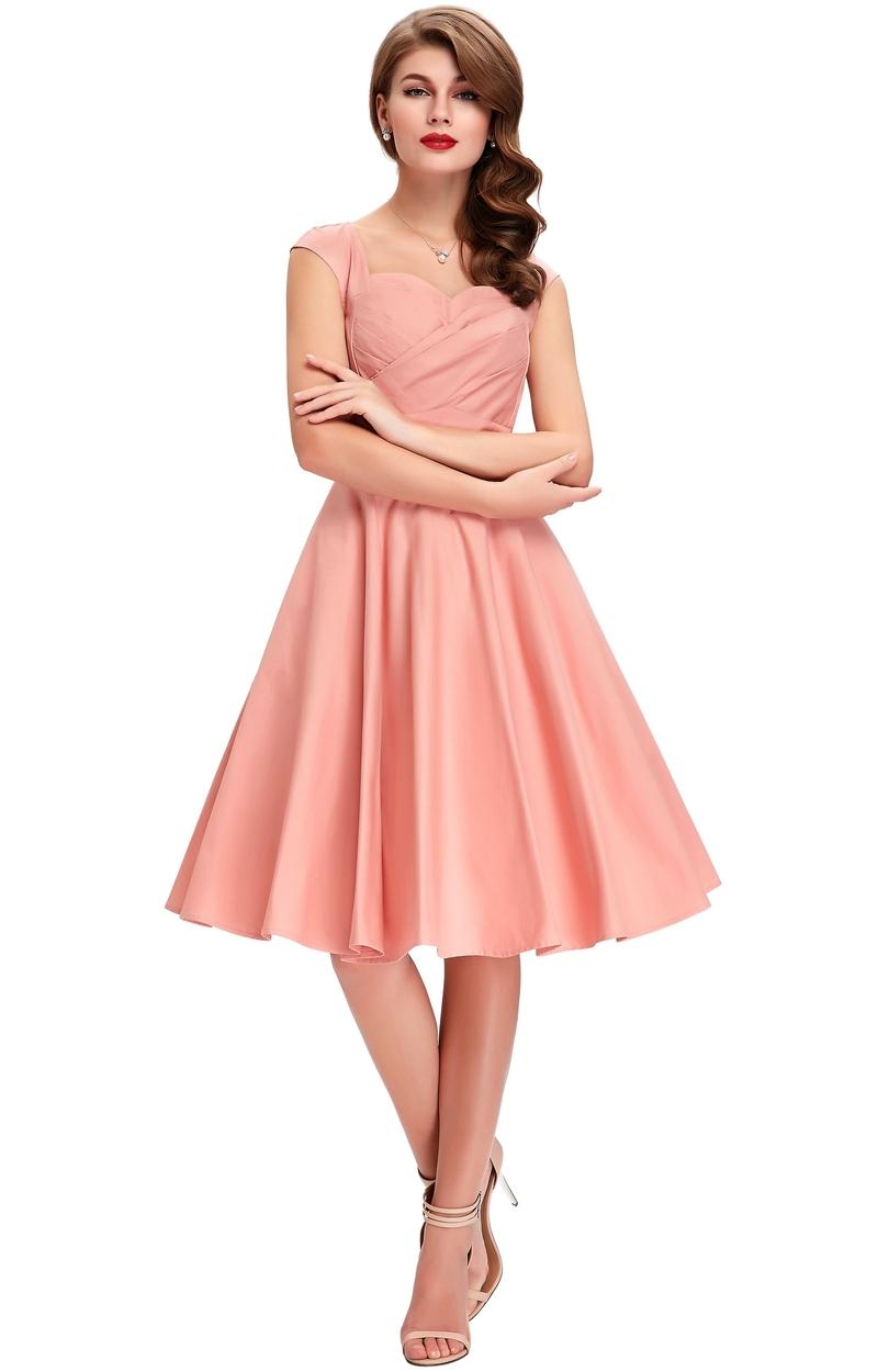 Sukienka w stylu pi-up. Bawełniana sukienka na wesele.