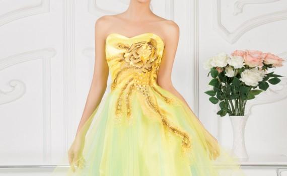 Żółta sukienka na wesele. Sukienki na wesele.