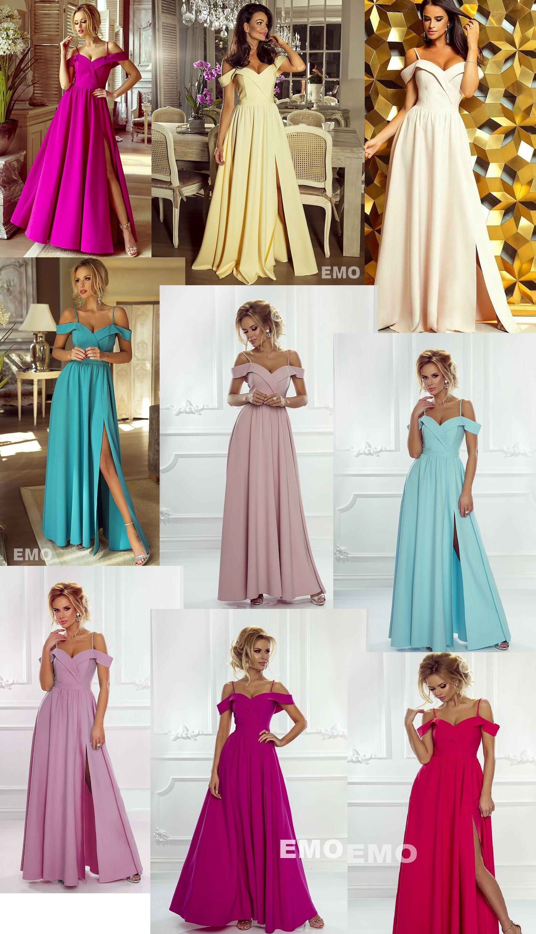Sukienki na studniówkę - długie Elizabeth