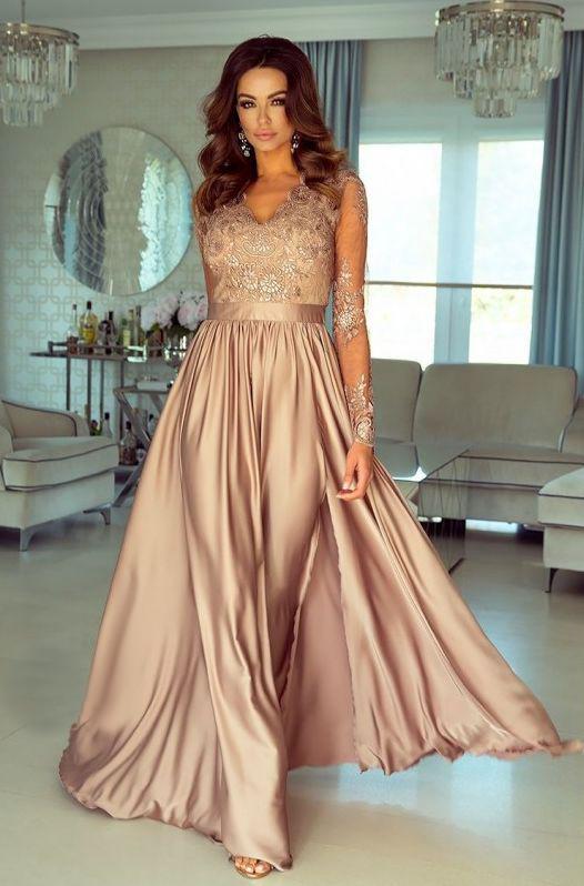 Długa sukienka na wesele dla druhen
