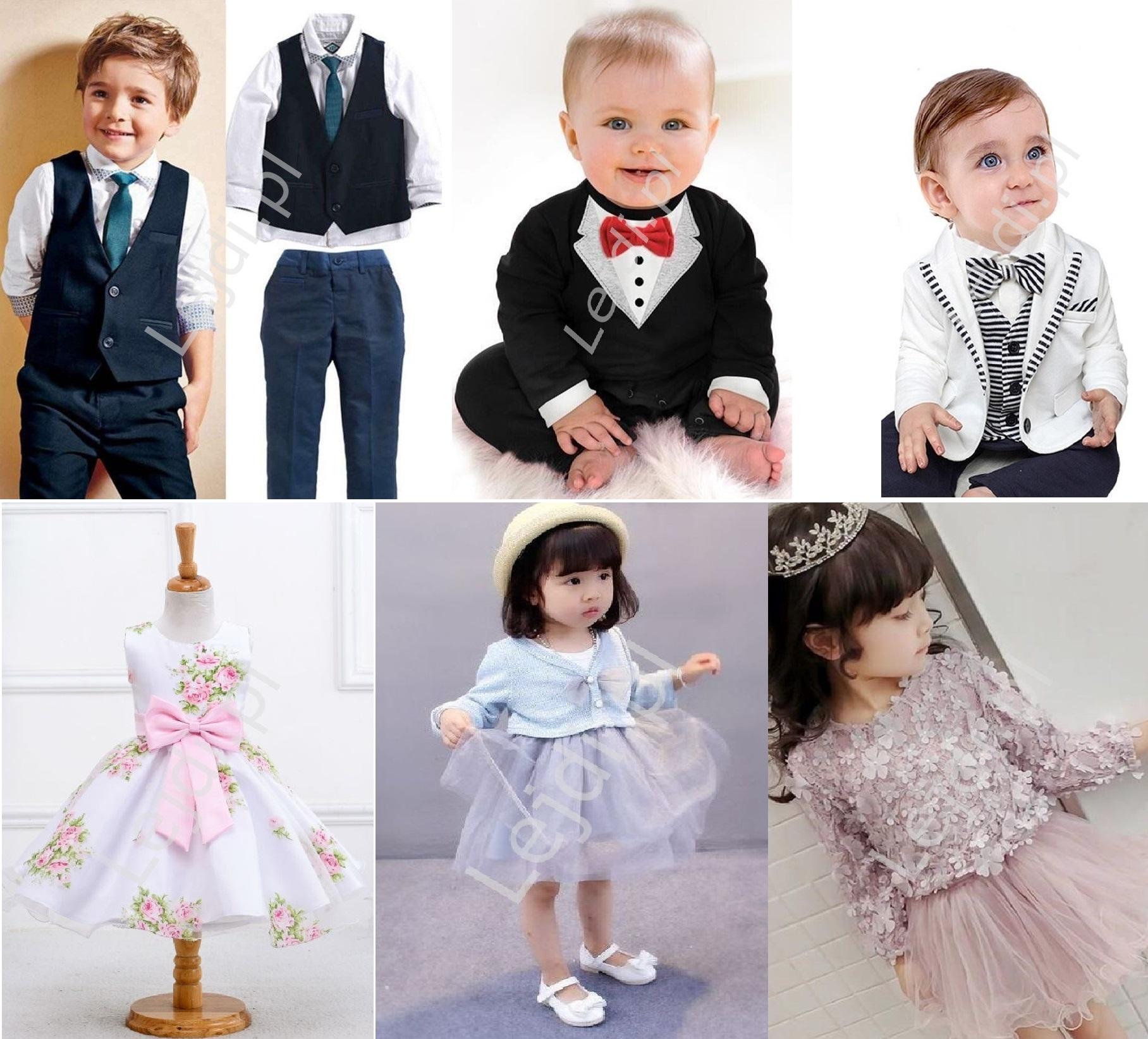 ubrania na komunie dla dziewczynki i chłopca