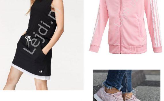 Sukienka sportowa, buty Reebok, bluza Adidas