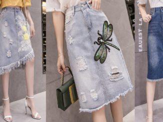 Jeansowe spódniczki