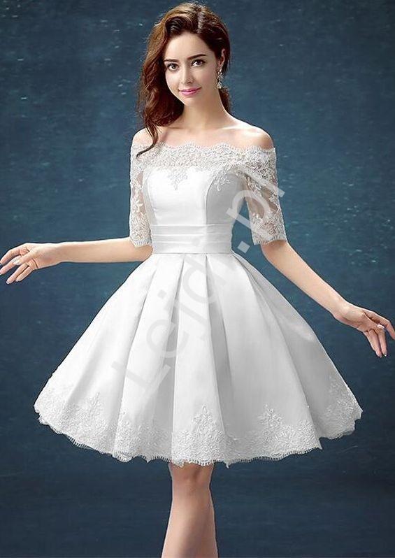 Biała sukienka ślubna Hiszpanka