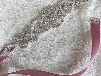 Pasek do sukni wieczorowej z kryształkami