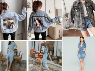 Kurtka jeansowa, sukienka jeansowa