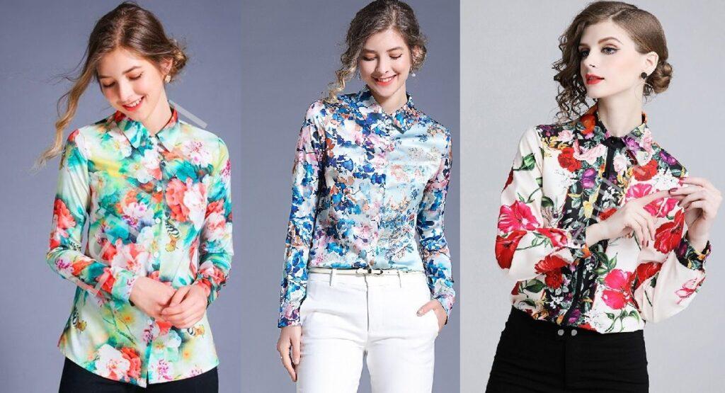 Koszule damskie w kwiaty