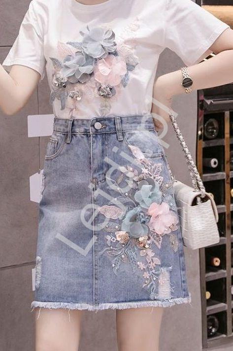 Jeansowa mini spódnica