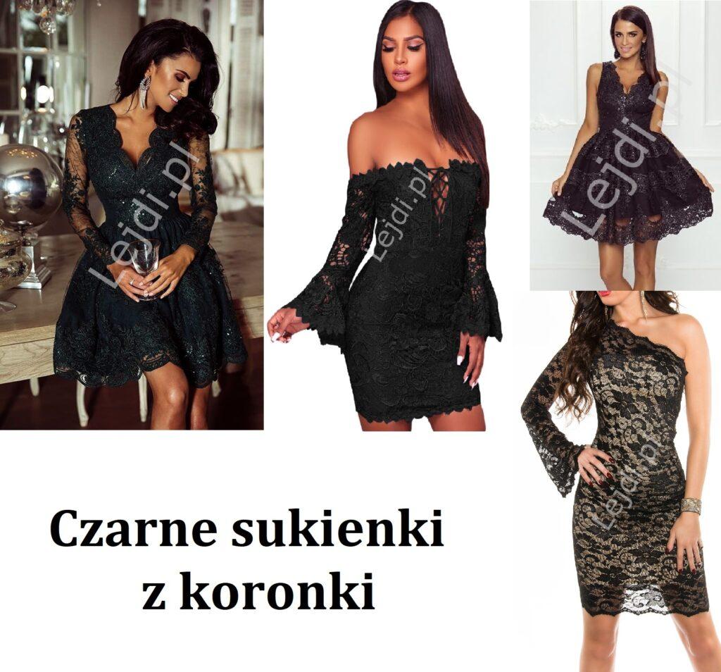 Czarne sukienki z koronki