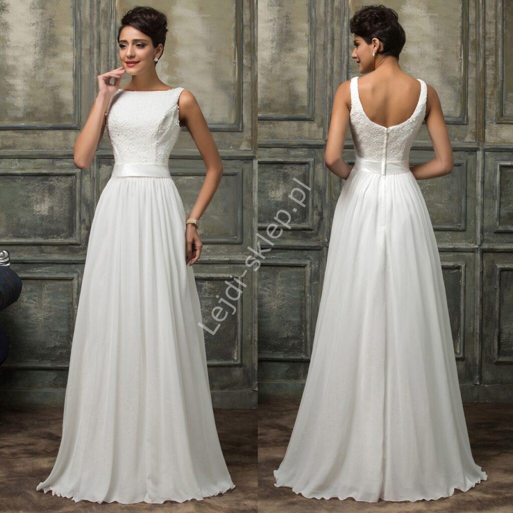 Skromna sukienka ślubna
