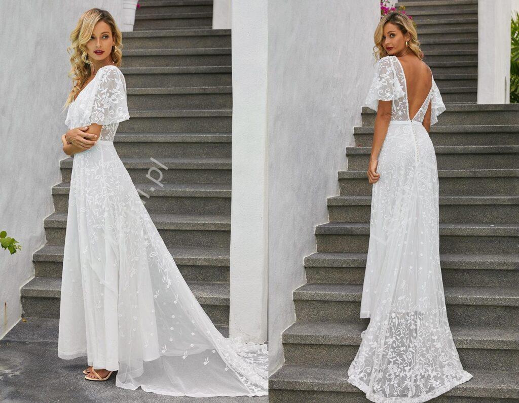 Romantyczna suknia ślubna w stylu boho