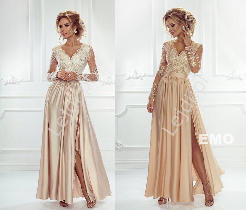 Złote sukienki na wesele