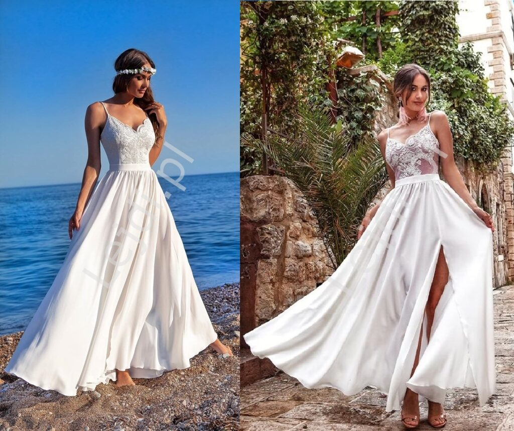 Sukienki ślubne na ramiączkach
