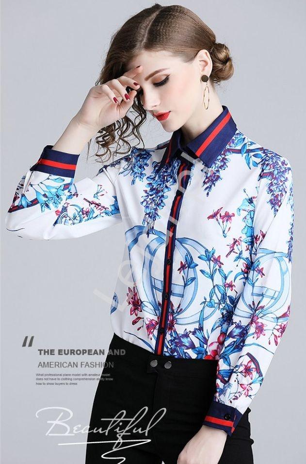 biala koszula damska w kwiaty_54709 | LEJDI.PL  Mati7