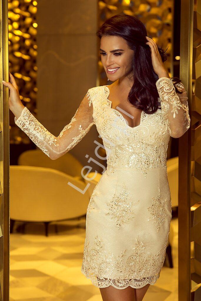 Złota sukienka Diana