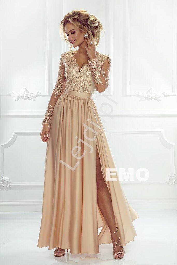 Złota sukienka Luna