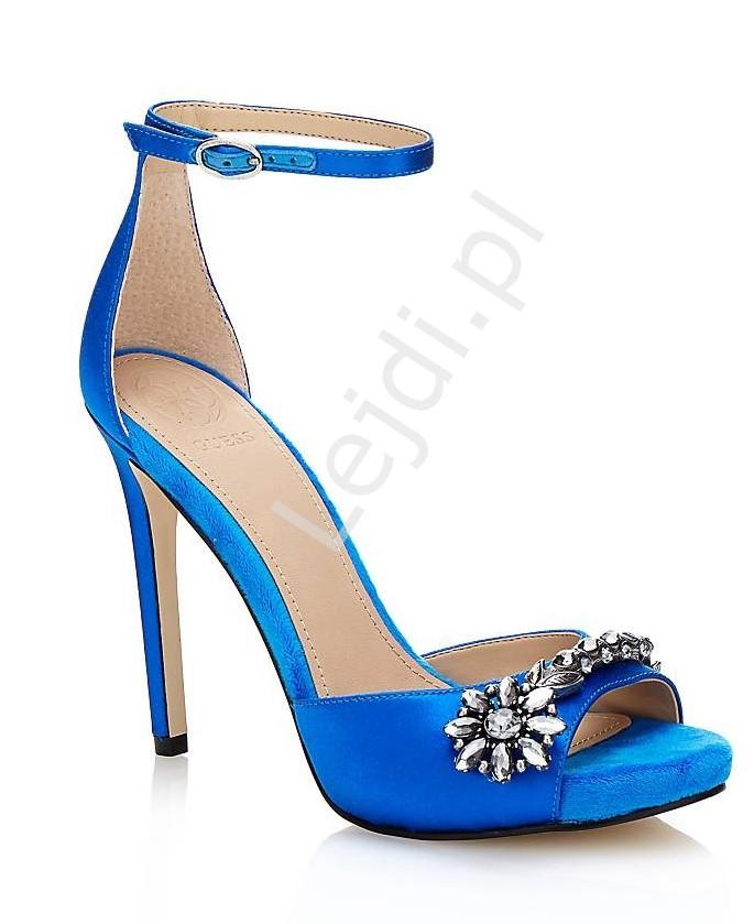 Niebieskie szpilki Guess