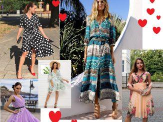 Sukienki na lato, w groszki, kwiaty