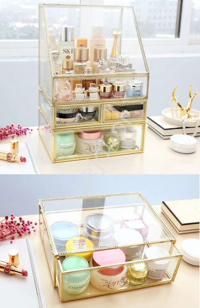 Szklana szkatułka, organizer szklany
