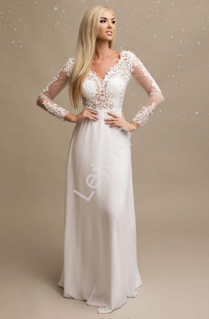 Skromna sukienka na ślub cywilny