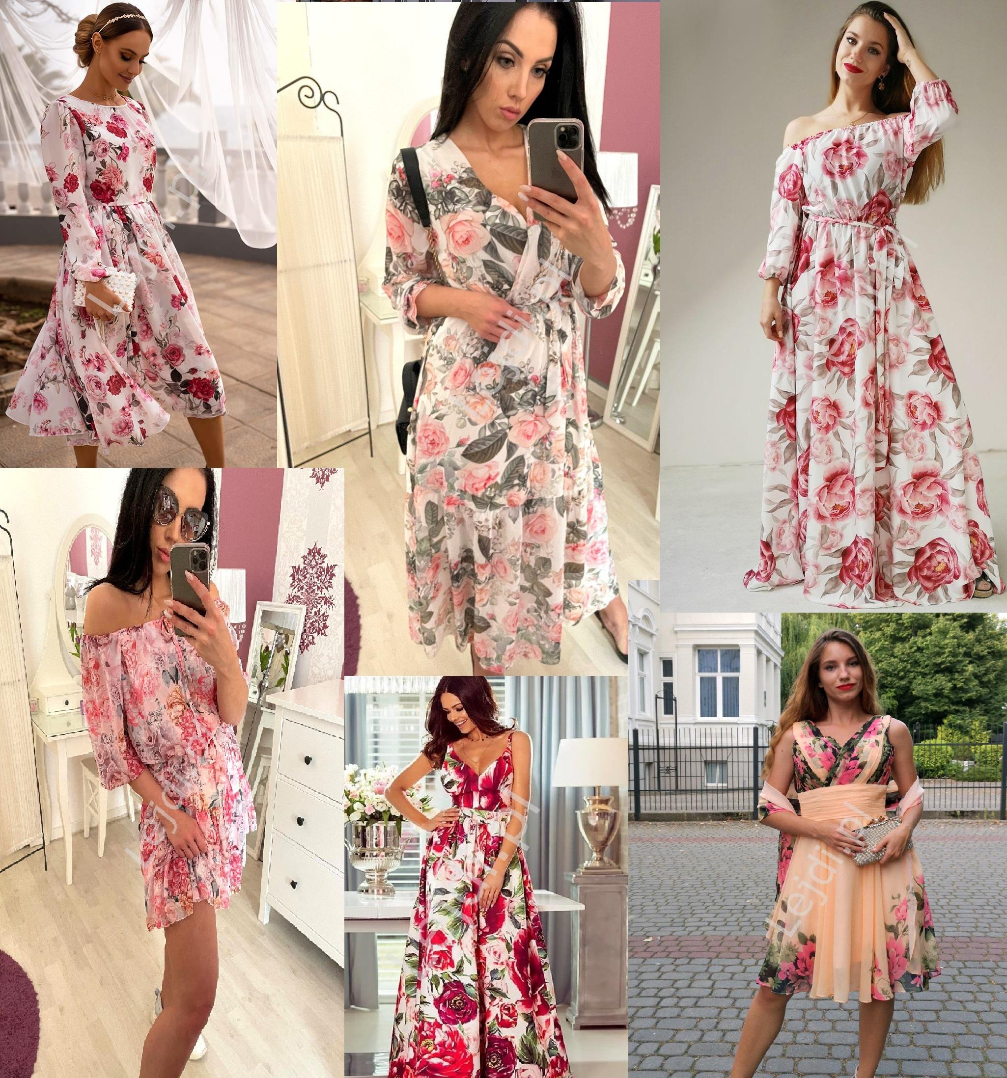 Sukienki w kwiaty na każdą okazję