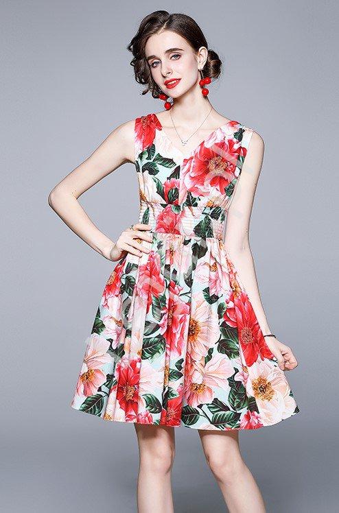 Sukienka na lato w kwiaty