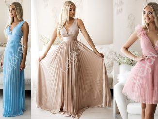 Plisowane sukienki wieczorowe