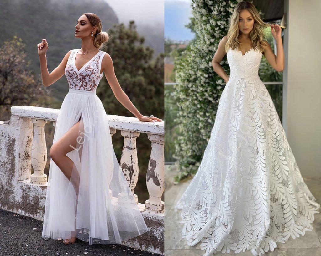 Długie suknie na ślub cywilny