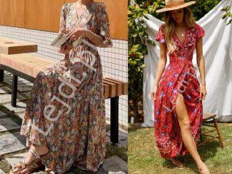 Sukienki w łączkę