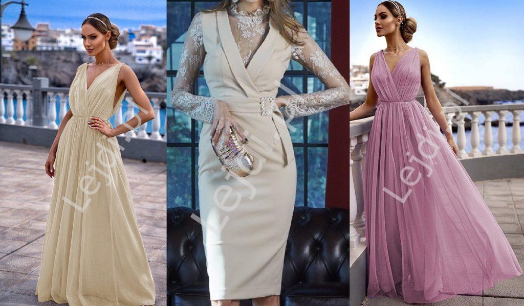 Sukienki kolorowe do ślubu cywilnego