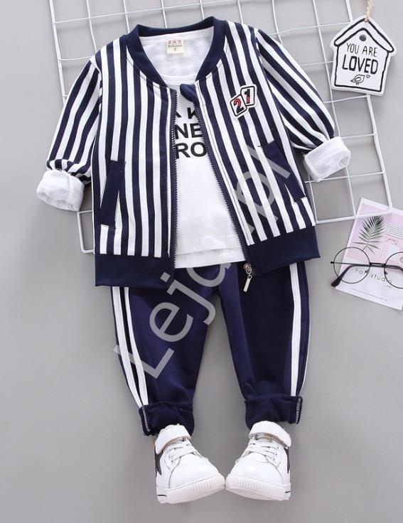 3 częściowy komplet dresowy dziecięcy, bluza, bluzka i spodnie 1044 - Lejdi