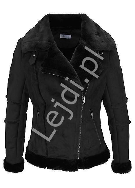 Aniston kurtka z sztucznej skóry z kożuszkiem - Lejdi