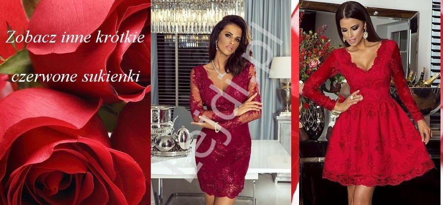 Czerwone sukienki krótkie