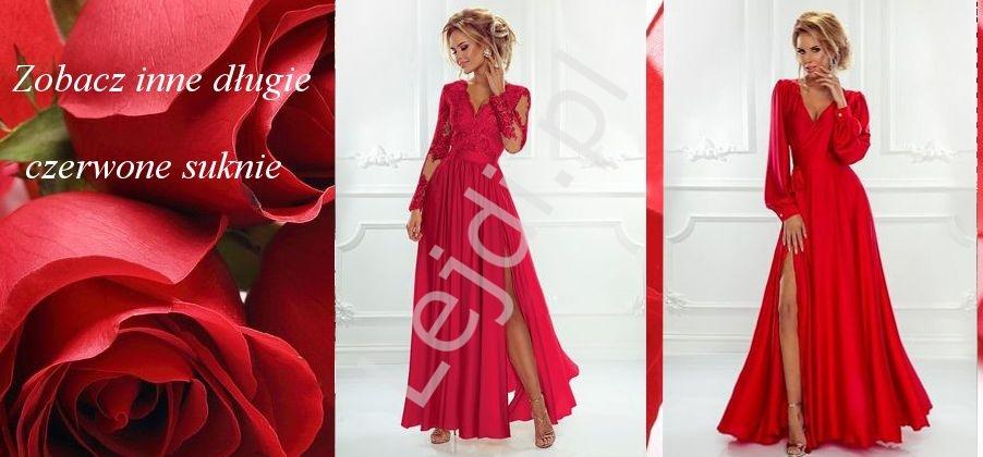 Czerwone długie suknie