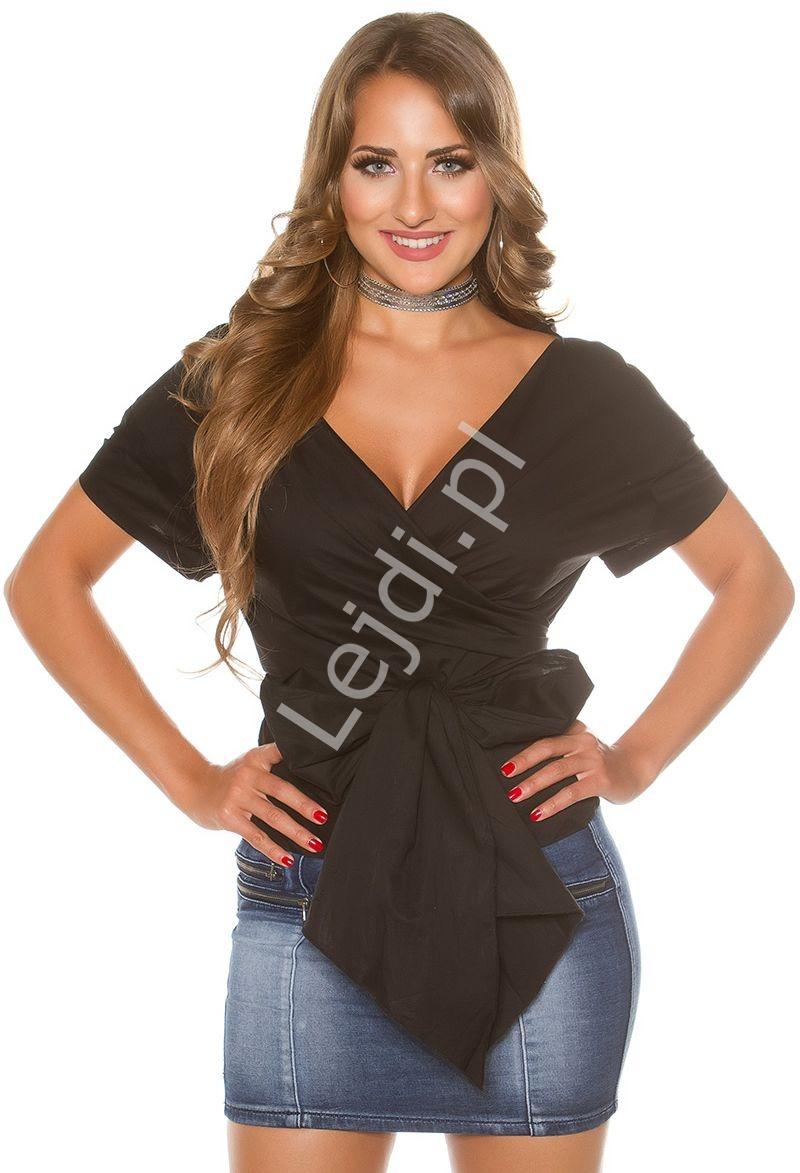 d0866d69b9 Bawełniana koszula wiązana w pasie kokardą H9495