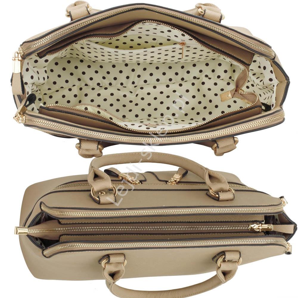 bcf4f7329ac5d Beżowa torebka z kieszeniami w stylu Pippy Middleton - Lejdi.pl