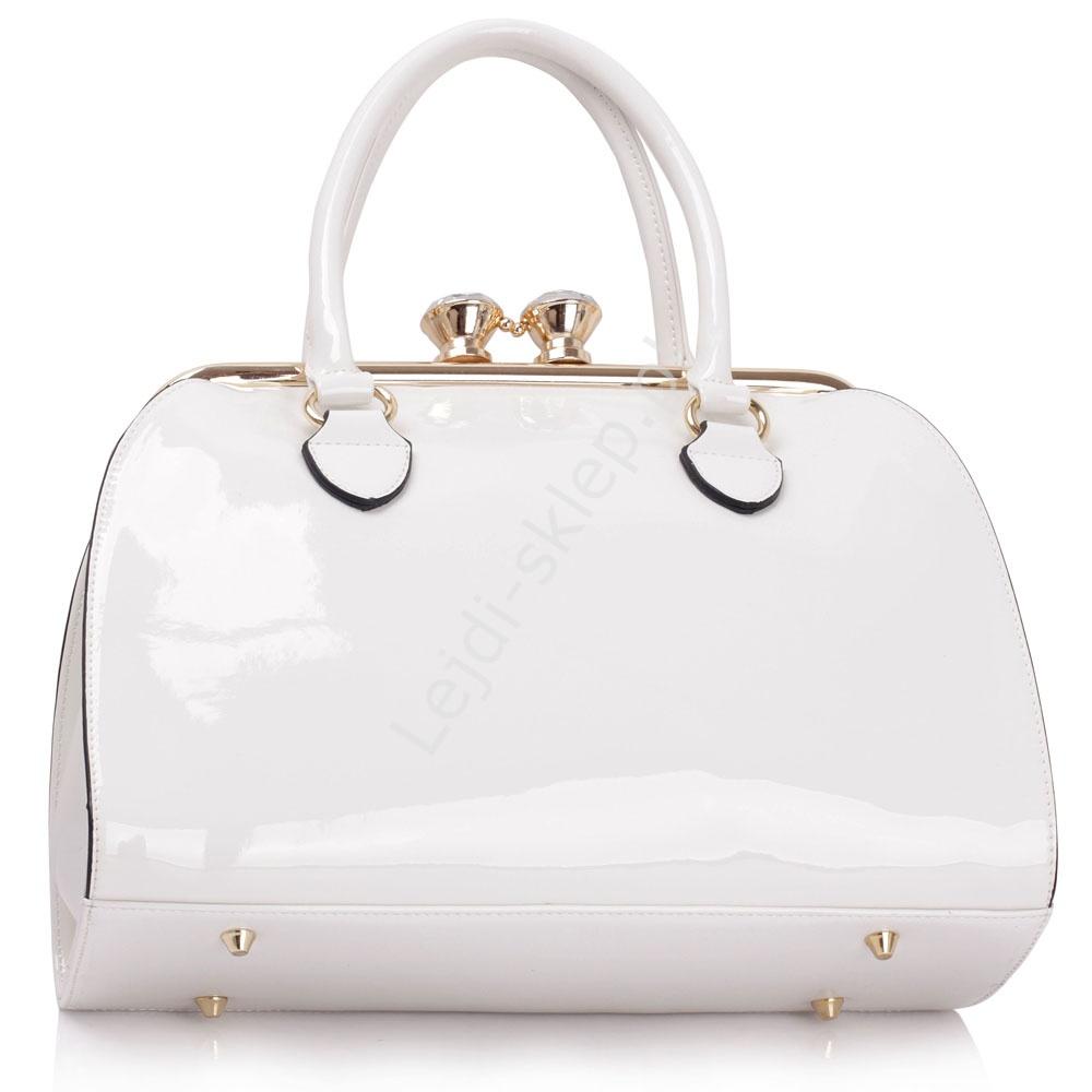 b468c1a16763b Biała lakierowana torebka damska - lakierowane torebki | Białe torebki  damskie