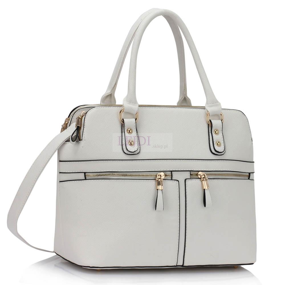 bacf0b983f5bc Biała torebka z kieszeniami w stylu Pippy Middleton - Lejdi.pl