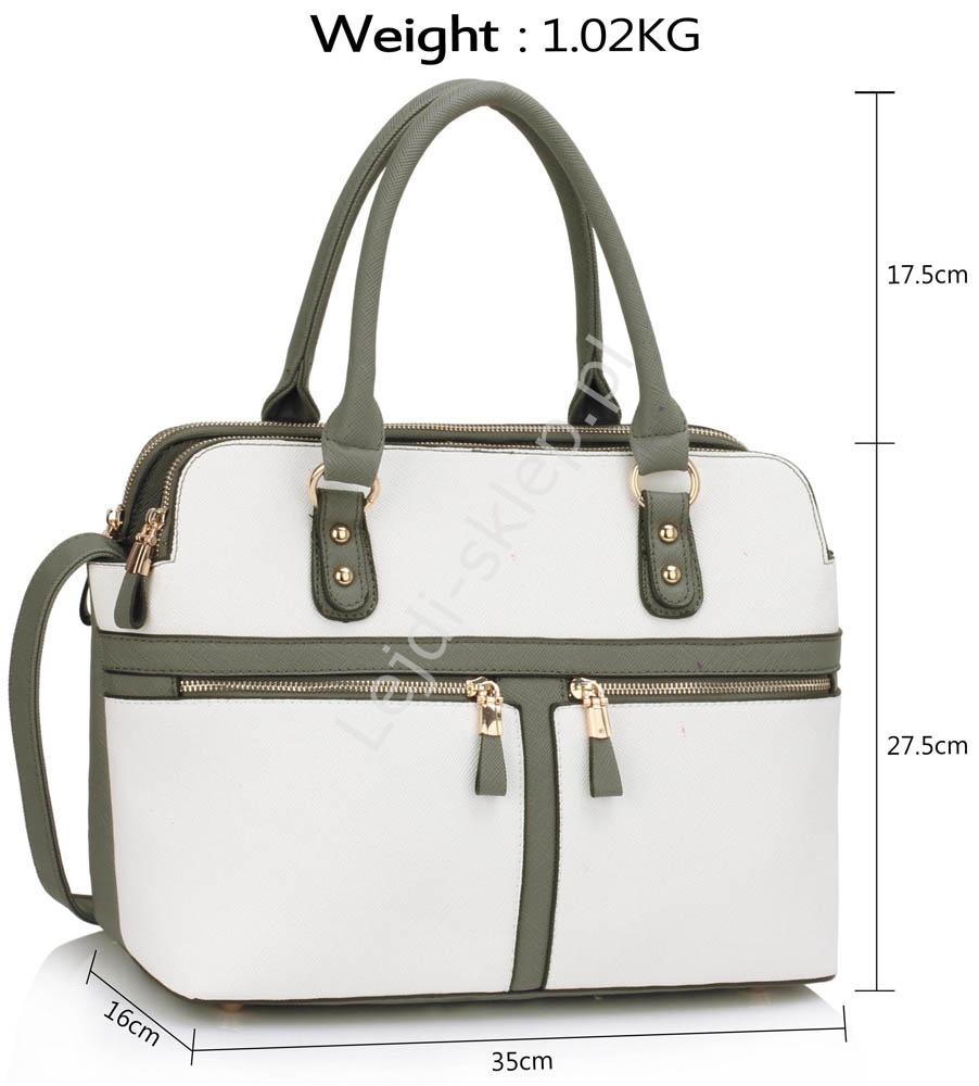 d89e7ba0b68f0 Szaro biała torebka z kieszeniami w stylu Pippy Middleton - Lejdi.pl