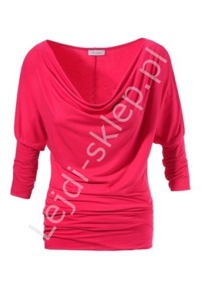 Bluzka nietoperz, malinowa czerwień | czerwone bluzki damskie - Lejdi