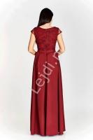 03c9f42340 Bordowa długa suknia wieczorowa plus size - Chantell - Lejdi.pl