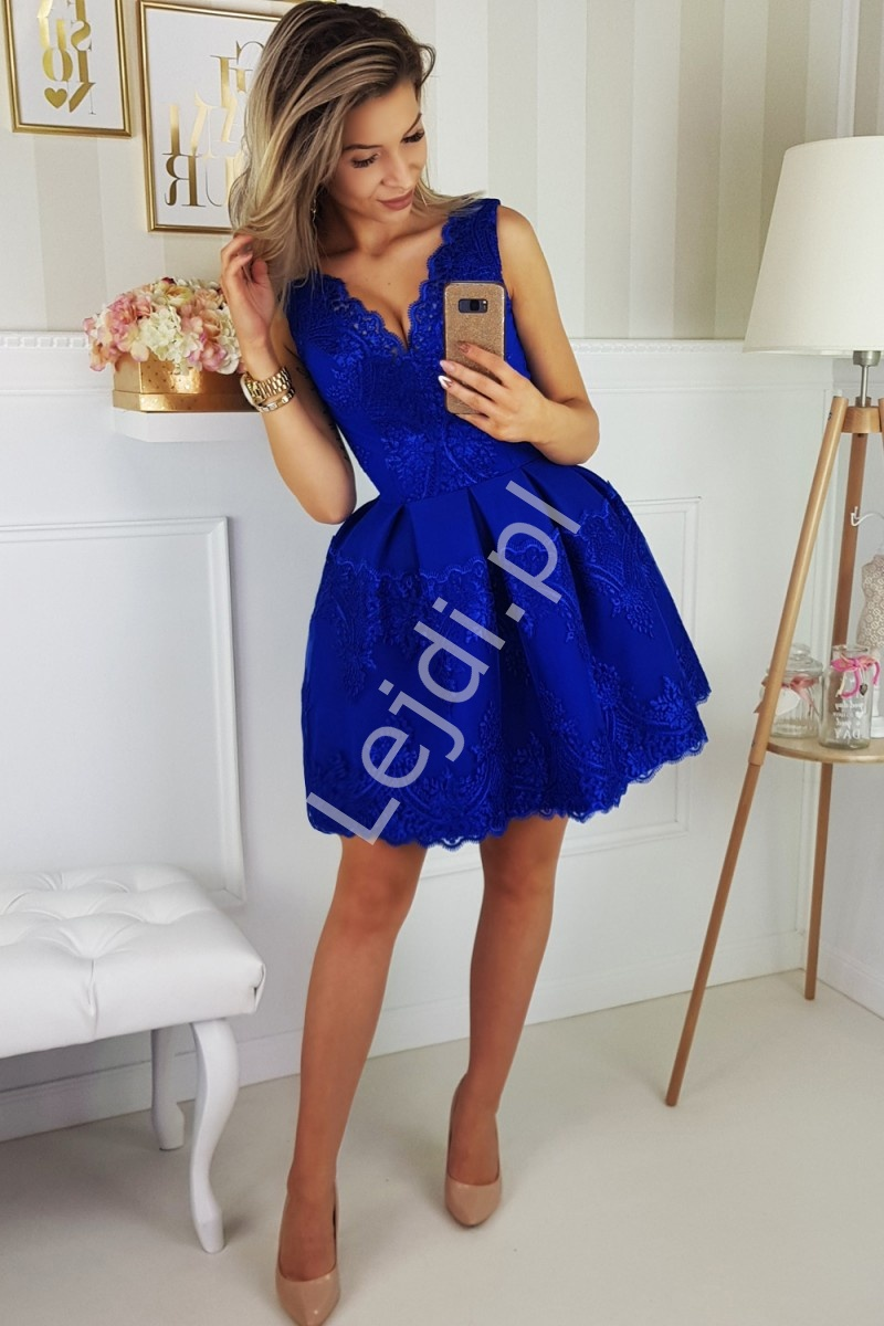 aa5ab8b2a6 Chabrowa sukienka na wesele lub studniówkę 2136-05 - Lejdi.pl