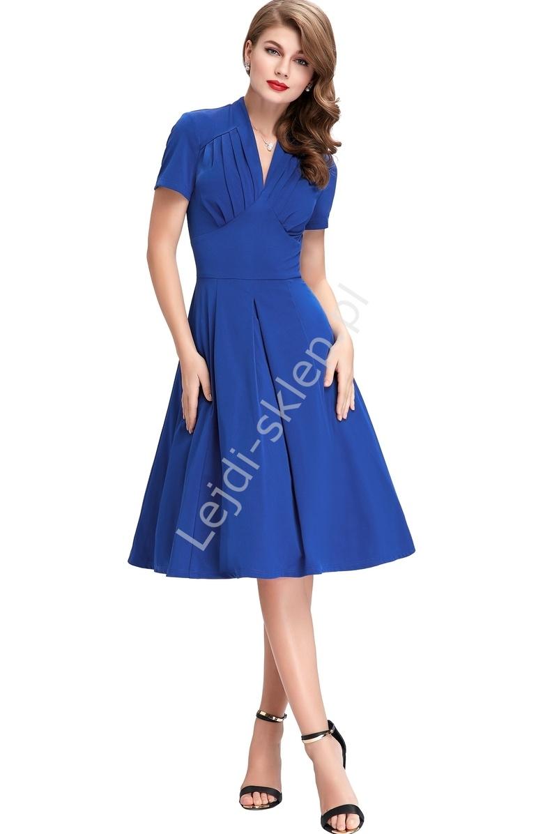 Chabrowa sukienka w stylu retro | sukienka lata 60-te - Lejdi