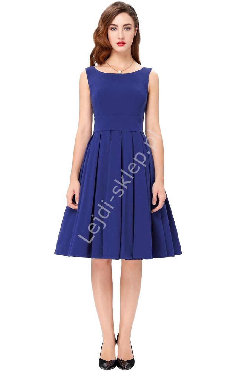 a1605f48ab Chabrowa sukienka z plisowanym dołem na wesele